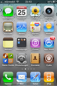 iOS 4.2.1 auf iphone  3GS